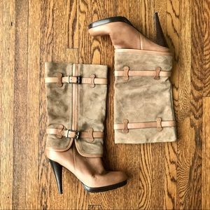 Cole Haan Nike Air Kennedy Suede & Leather Boots